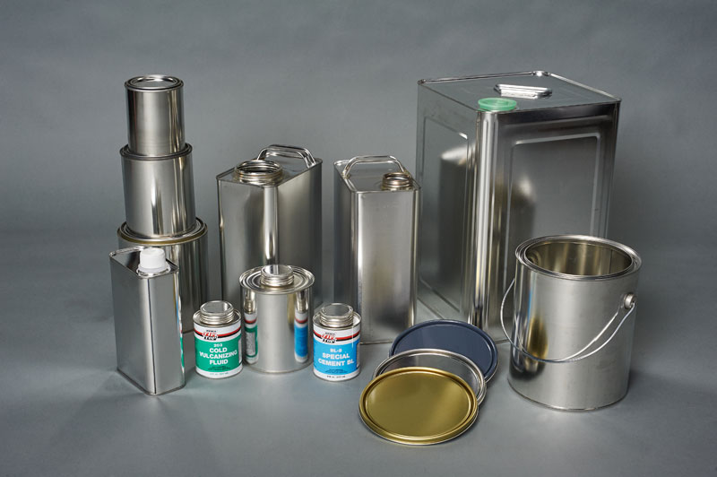 round and f-style tin containers