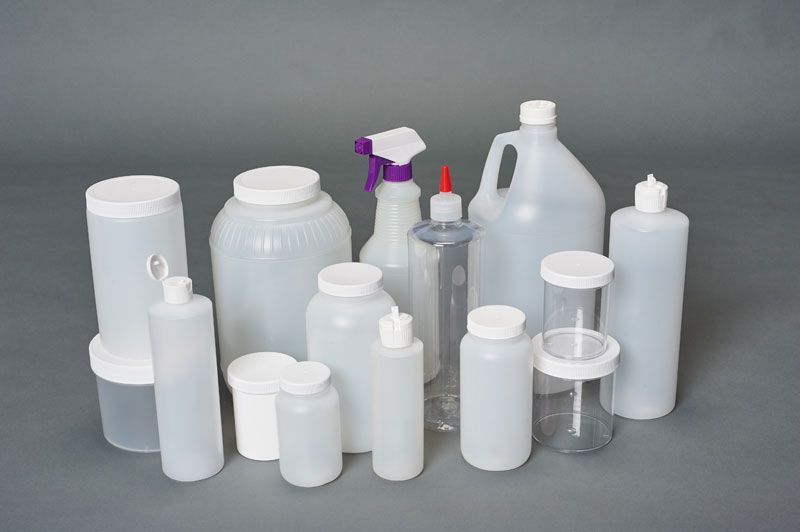 plastic bottles and jugs